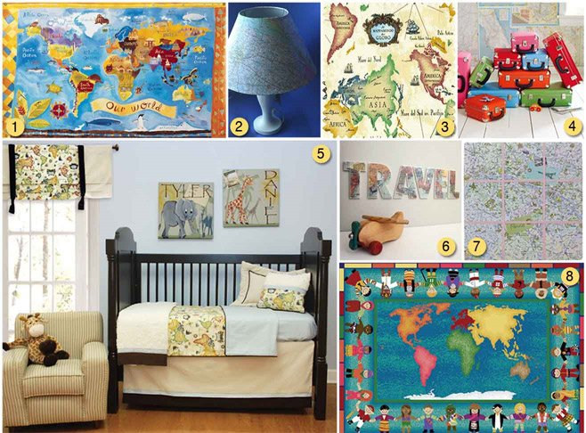 Using Maps As Kid's Room Decor