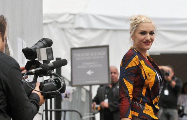 Gwen Stefani, L.A.M.B. top, fashion week, runway show
