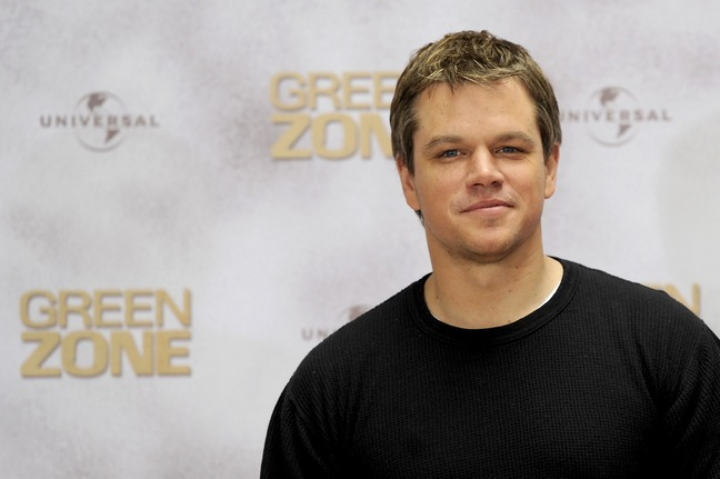 Matt Damon, black t-shirt