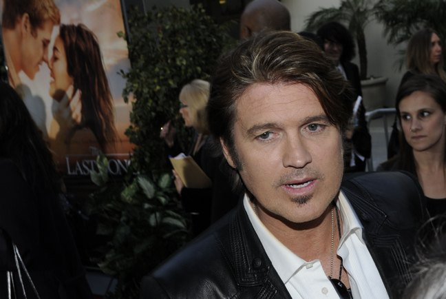 Billy Ray Cyrus, black jacket, white shirt,