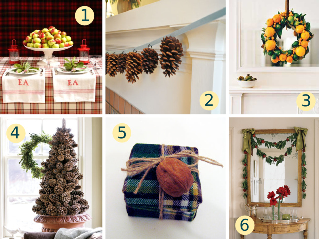 Natural Holiday Decorating