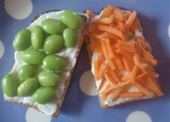 Edamame Sandwich with Carrots & Ranch Recipe