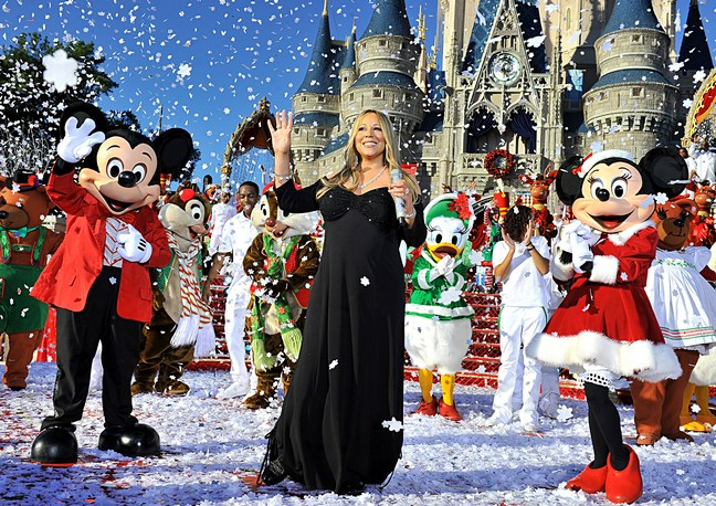 Mariah Carey, black dress, maternity dress, disney