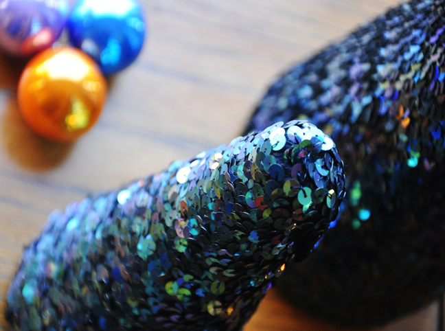 DIY Holiday: Sparkly Sequin Trees