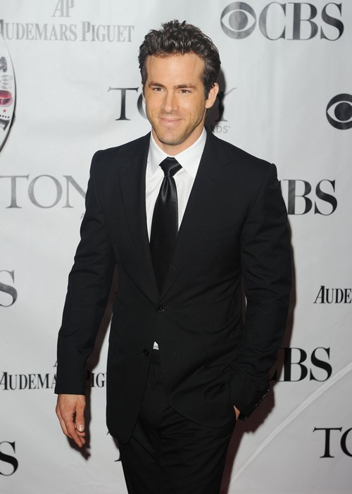 Ryan Reynolds, black suit