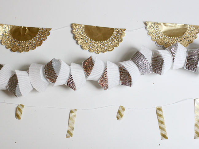 DIY Holiday: Metallic New Years Garlands, Three Ways