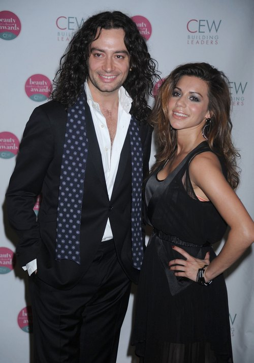 Constantine Maroulis, black jacket, white shirt, black pants