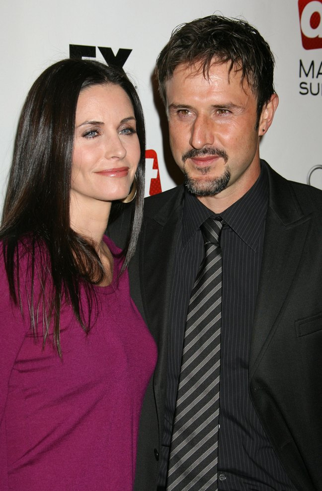 David Arquette Courteney cox red carpet