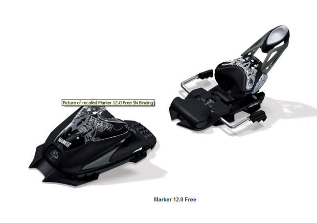 Ski bindings recalled from Volkl USA and Kastle due to Fall Hazard