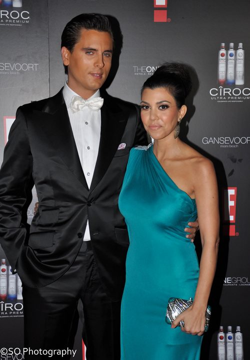 Kourtney Kardashian, teal silk dress, off the shoulder dress,