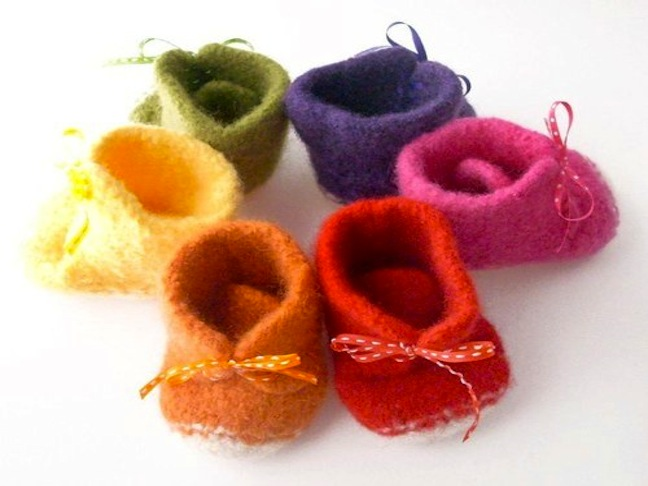 ETSY FELTED BABY SHOES