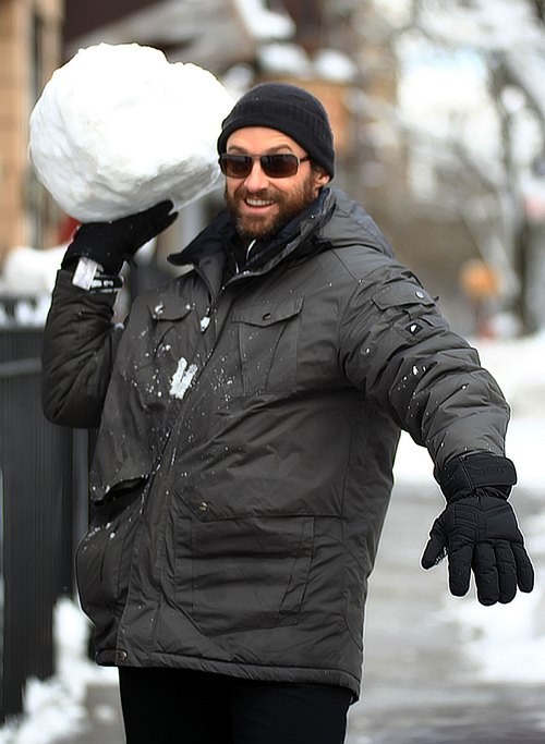 Hugh Jackman sunglasses winter coat