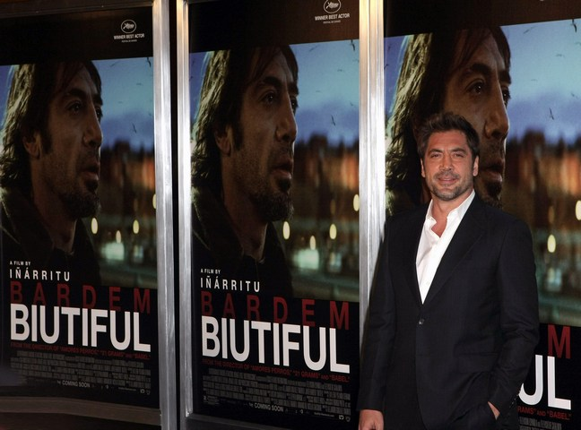 Javier Bardem, suit, dark suit, white shirt
