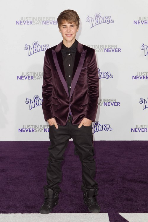 Justin Bieber, purple jacket,