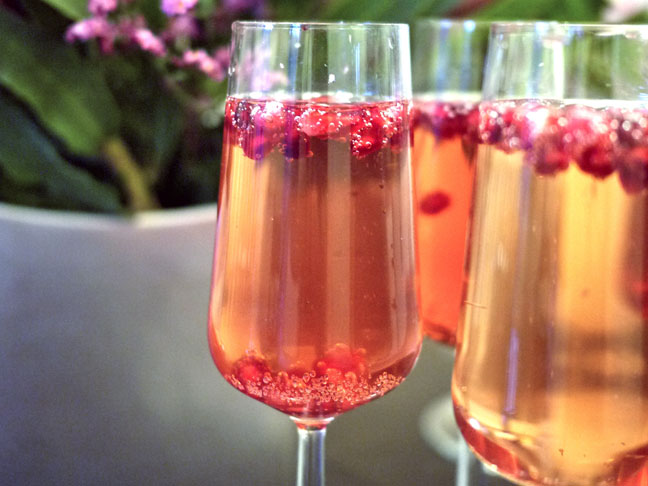 POMEGRANATE PEAR BELLINI