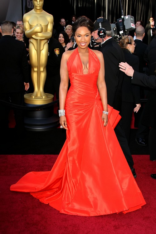 Jennifer Hudson, oscar gown, red gown, red dress