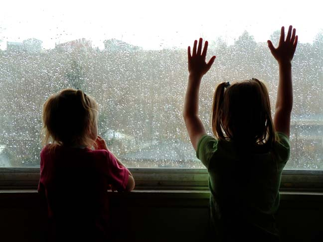 KIDS AT WINDOW