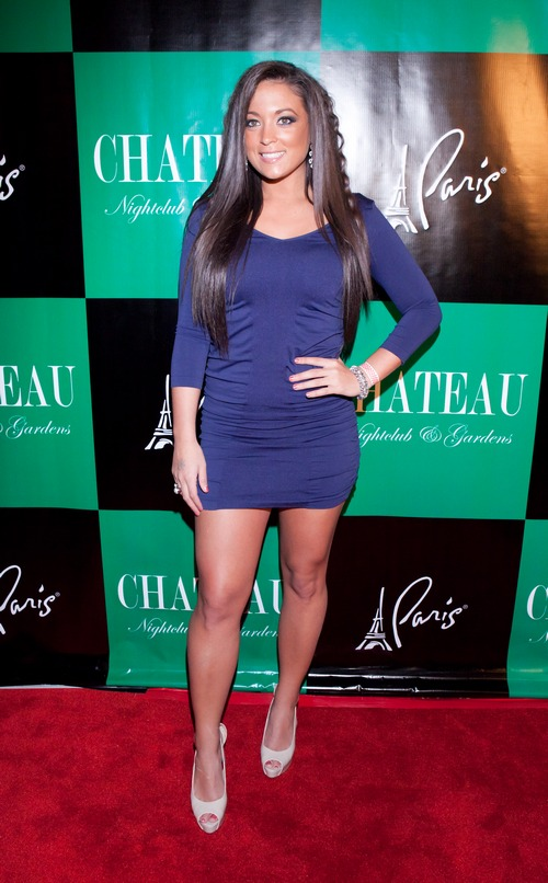 Sammi Giancola, blue dress, purple dress