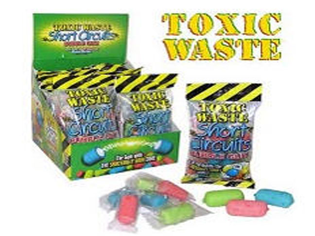 Toxic Waste Short Circuits Bubble Gum Recalled