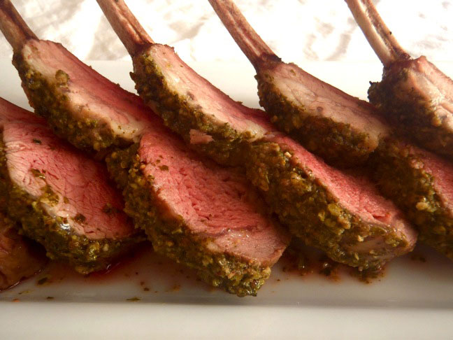 Pesto Crusted Lamb-7