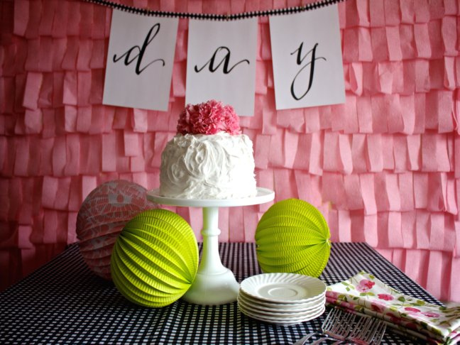how to make crepe paper decorations for birthday