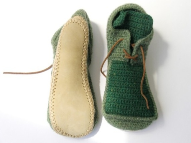 etsy finds house shoes with leather soles by leninka