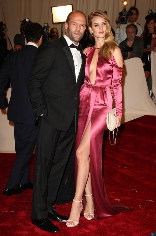 Rosie Huntington-Whiteley pink gown,