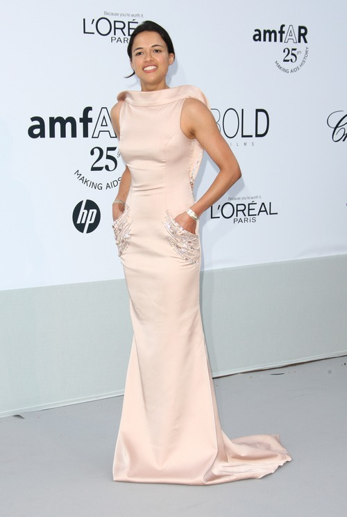 michelle rodriguez pink gown, pink dress