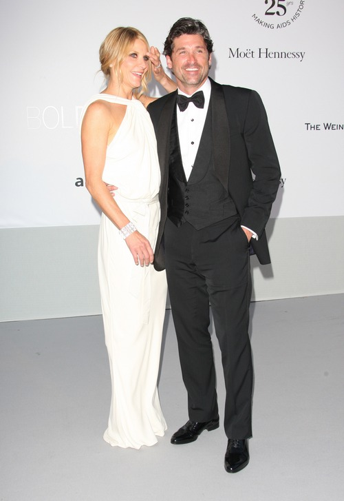Patrick Dempsey tuxedo Jill Fink white dress white gown