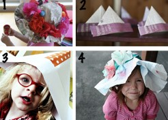 Rainy Day Activity: Fresh Takes On Making Paper Hats