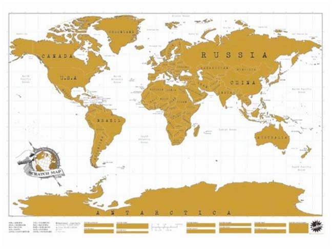 scratch off world map. Black Bedroom Furniture Sets. Home Design Ideas
