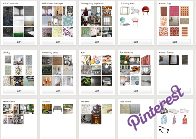 screenshot of pinterest dashboard