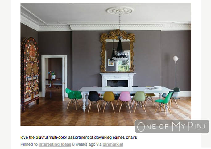 A pin of a dining room on Pinterest