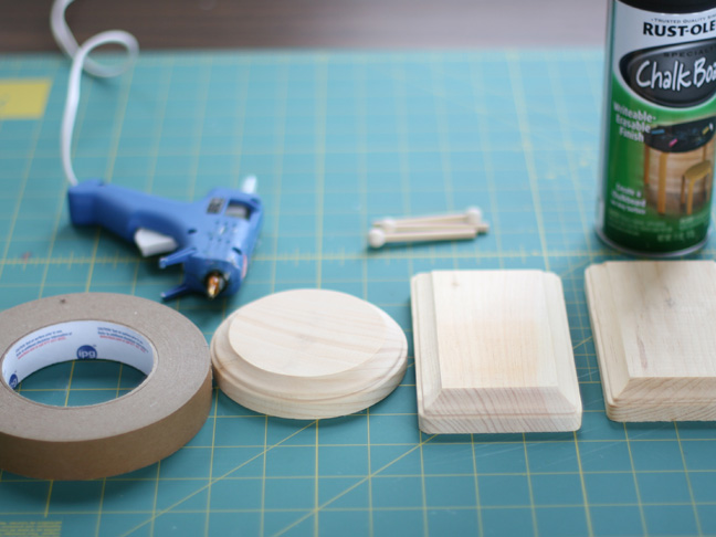 glue gun wood rounds