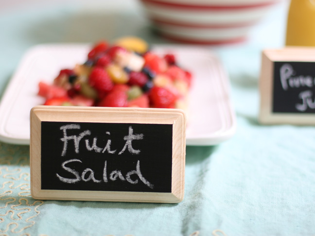 mini chalkboard food labels