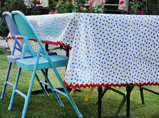 Throw On A Table And Enjoy Your New, Care Free Tablecloth That Will Last  For Years To Come. Try Using Blanket Binding Or Pom Pom Trim For Even More  Fun!