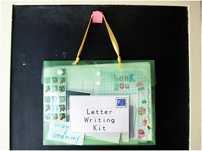 want to get your kids excited about reading and writing make them a letter writing kit