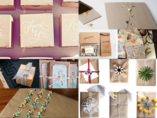 Cheap Gift Wrap Ideas Jazz Up A Brown Paper Bag Or Box