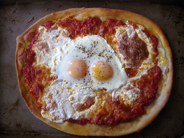 Pizza With a Fried Egg