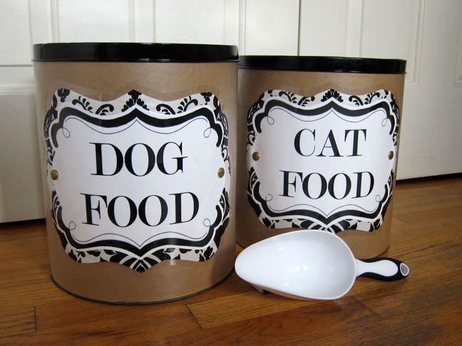 like many of you i have pets u2013 a dog and two cats i like to keep their things organized as much as i do my own stuff - Dog Food Containers