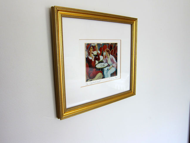 gold photo frame art