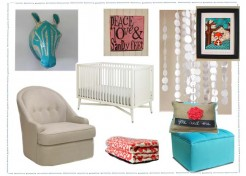 The Red and Turquoise Nursery For Girls