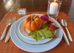 DIY: No Sew Rustic Placemats For Your Thanksgiving Table