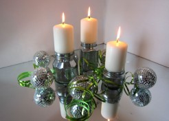 DIY: Mercury Glass Candle Holders