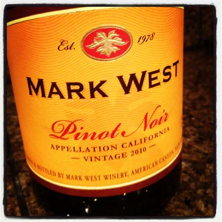 instagram photo of Mark West's 2010 Pinot Noir