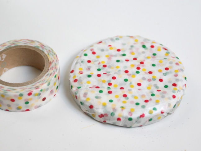 polka dot washi tape lid