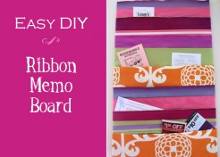 Ribbon Memo Board