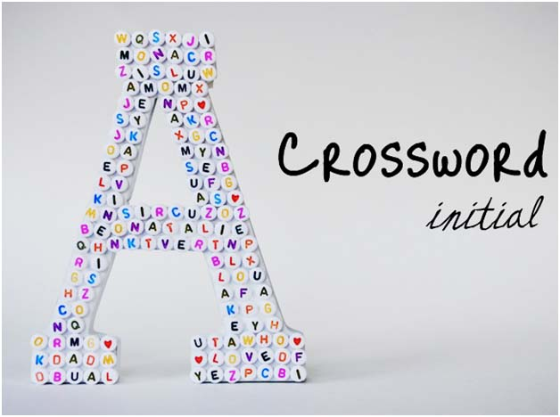 DIY: Crossword Initial