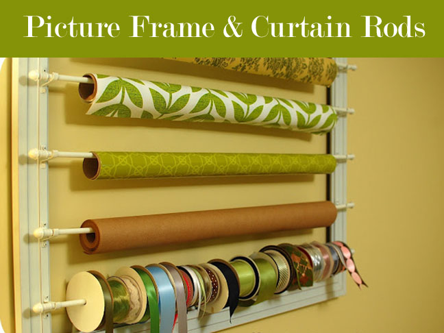 Alissa Over At 33 Shades Of Green Re Purposed A Frame And Attached  Cafe Style Curtain Rods To It To Create This Clever Organizer.
