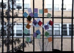 """DIY: Kid's Tissue Paper """"Stained Glass"""""""